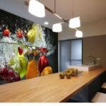 Fotomural interior bucătărie cu explozie de fructe