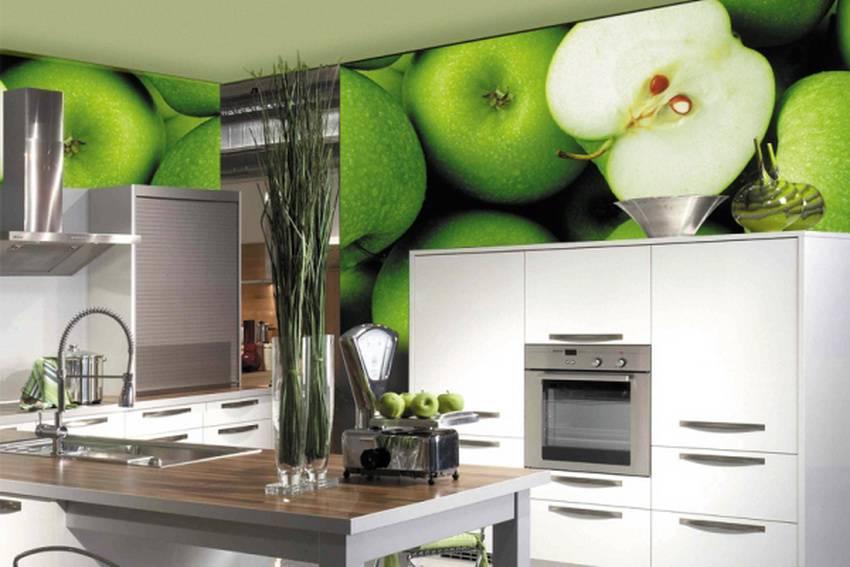 Pictură de perete în interiorul bucătăriei cu imaginea produselor