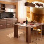 Fotomural interior bucătărie cu cappuccino