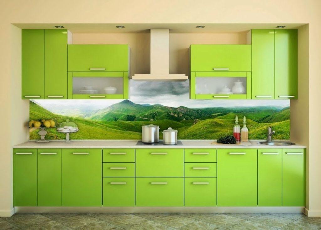 Pictură de perete în interiorul bucătăriei pielea cu o imagine