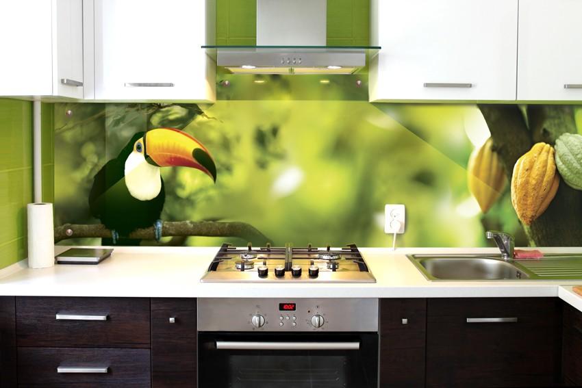 Pictură de perete în interiorul bucătăriei pielite