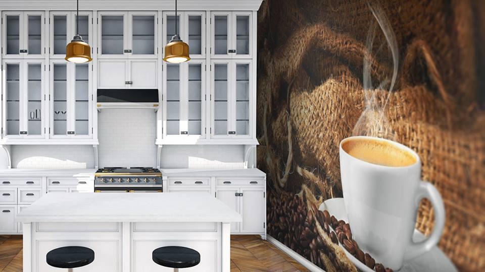 Fotomural bucătărie interioară controlează starea de spirit