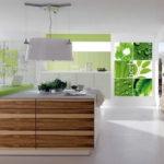 Fotomural interior bucătărie în stil ecologic