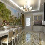 Fotomural în interiorul bucătăriei în stil grecesc