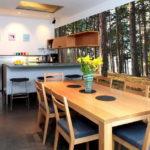 Fotomural interior interior bucătărie în stil eco