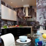 Fotomural interior bucătărie în stil retro
