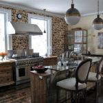 Bucătărie murală în stil rustic