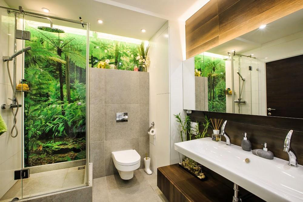 salle de bain style éco
