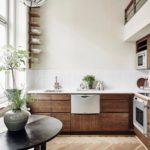 Bucătărie modernă de stejar