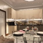 Set modern bej de bucătărie