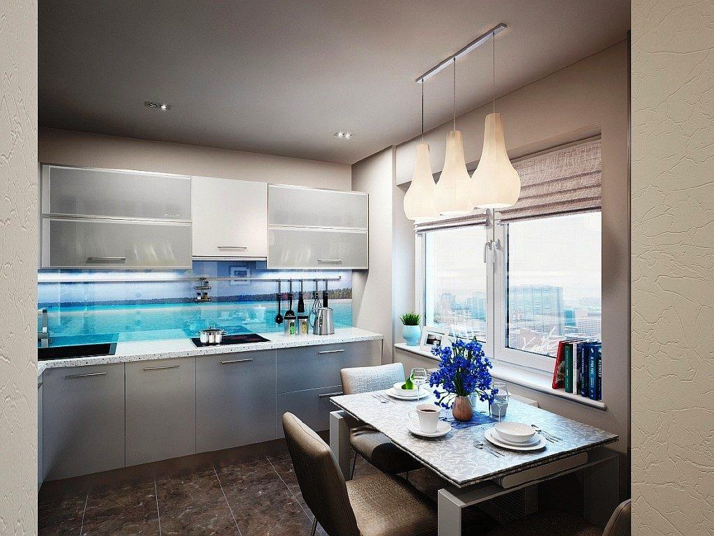 Șorț de bucătărie modernă cu panorama