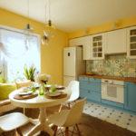 Șorț de bucătărie modern în stil patchwork.