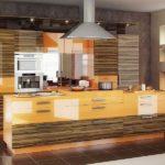 Textura din lemn lucios de bucătărie modernă