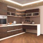 Textura moderna din lemn mat de bucatarie