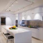 Masă de luat masa din bucătărie modernă cu sertare