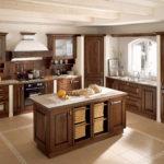 Design de insulă de bucătărie modernă în stil provensal