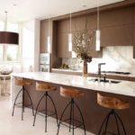 Blat de bucătărie cu gamă largă de ciocolată modernă