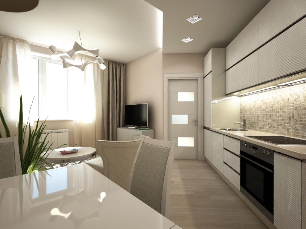 Bucătărie modernă, culori deschise