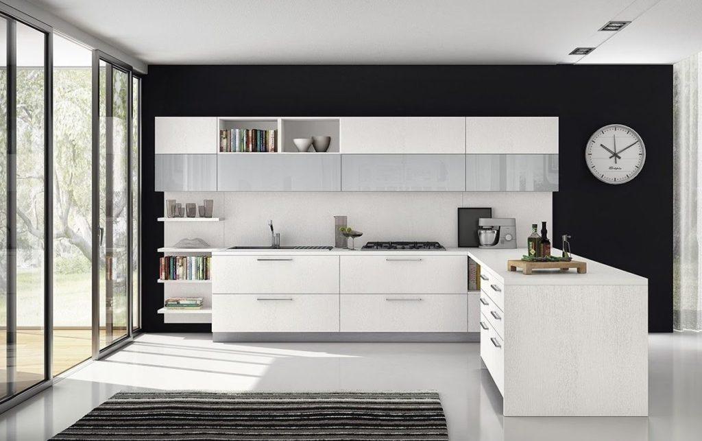 Bucătărie modernă culori închise