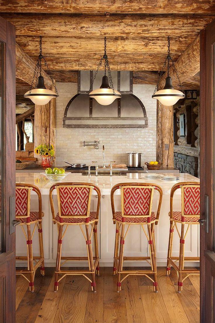 Bucătărie modernă în stil rustic