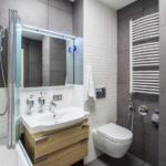 idées de design intéressantes pour une salle de bain avec WC
