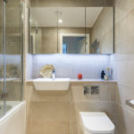 conception d'une salle de bain combinée avec un WC