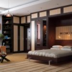 thiết kế phòng ngủ phòng khách với giường nâng