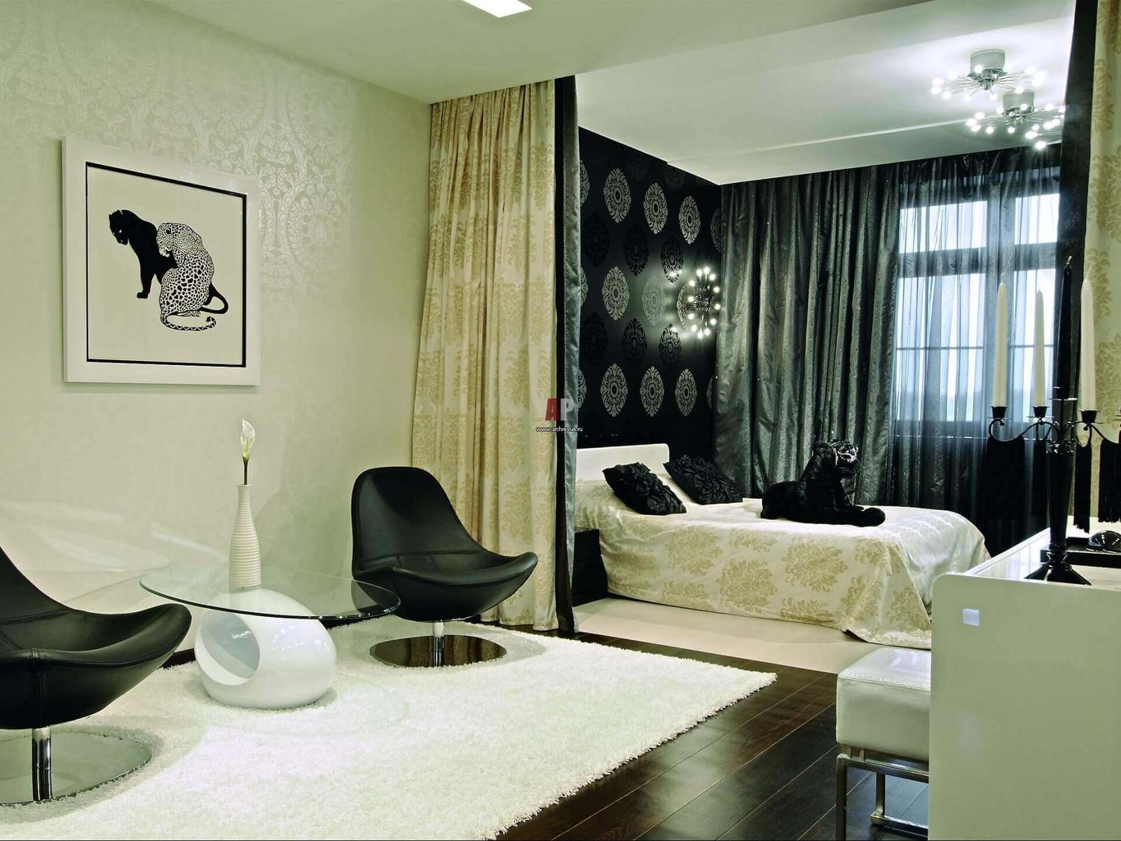 thiết kế phòng ngủ phòng khách nhỏ