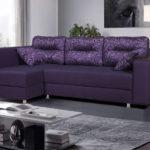 thiết kế phòng khách sofa màu tím