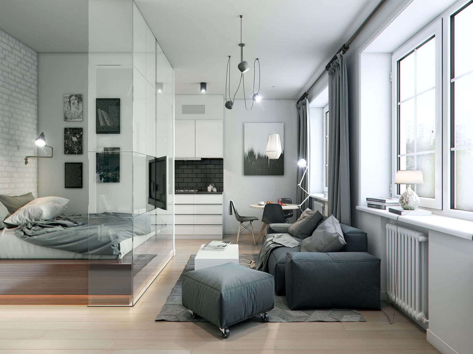 phòng ngủ có phòng khách