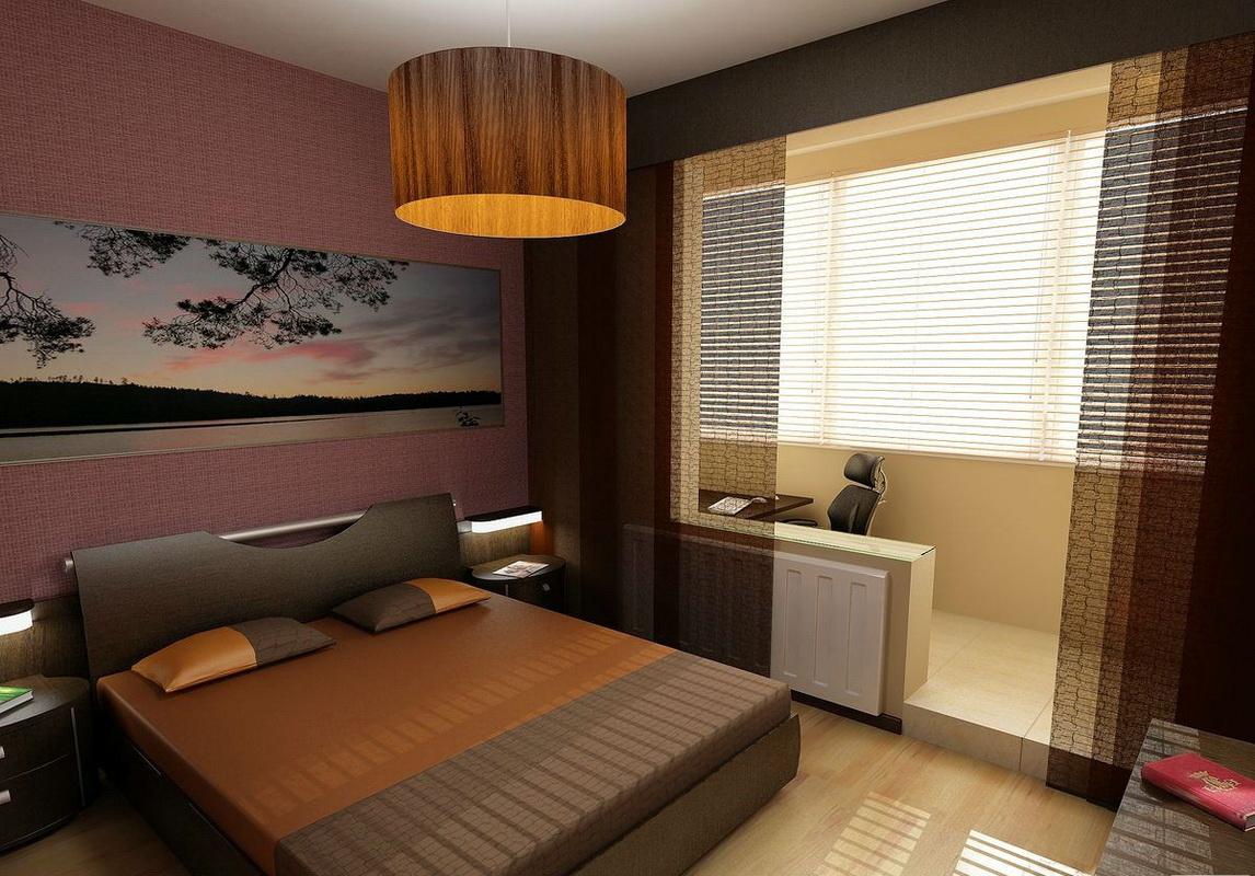 chambre moderne avec balcon