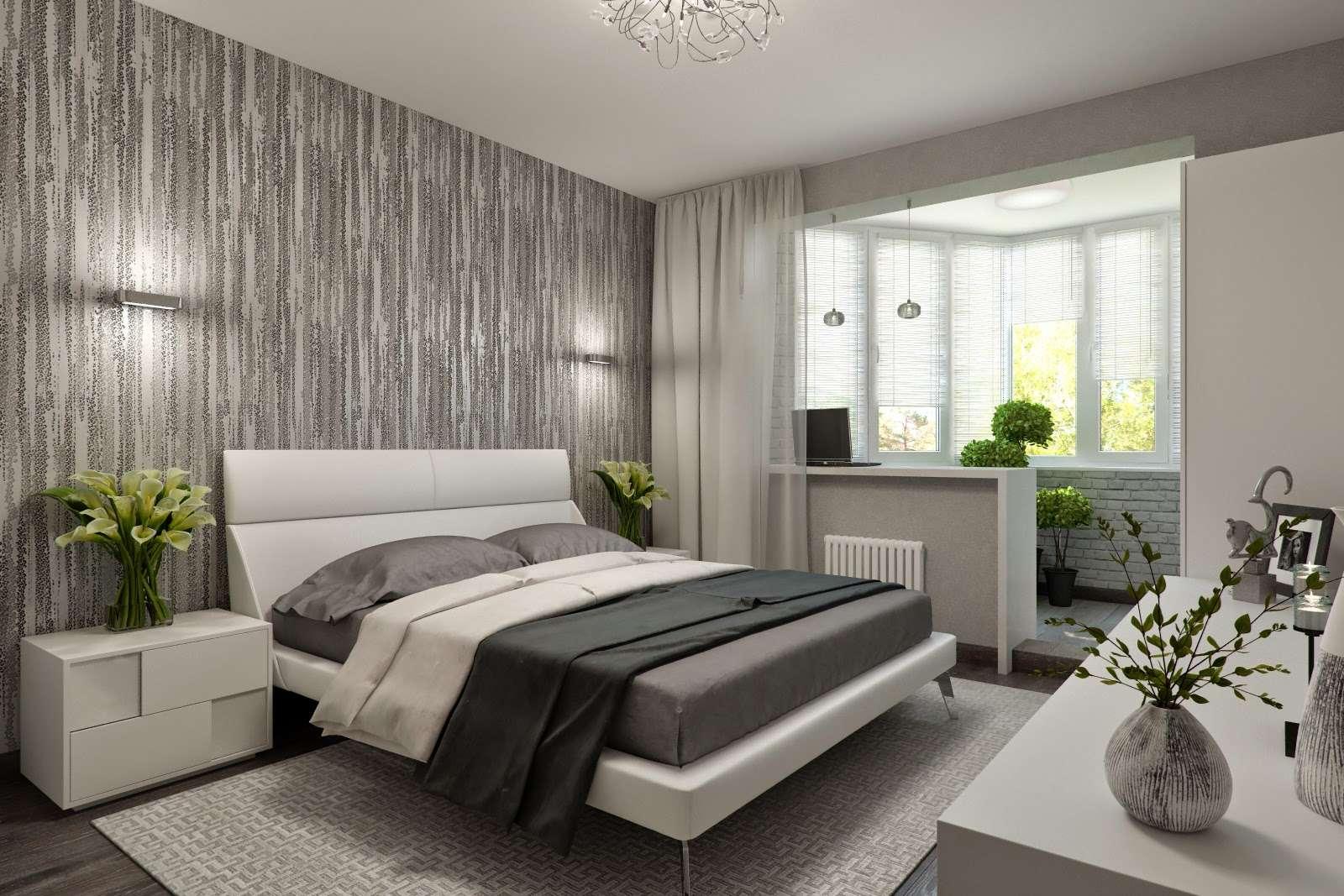 idées de conception de chambre avec balcon