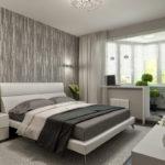 conception de la chambre avec balcon photo