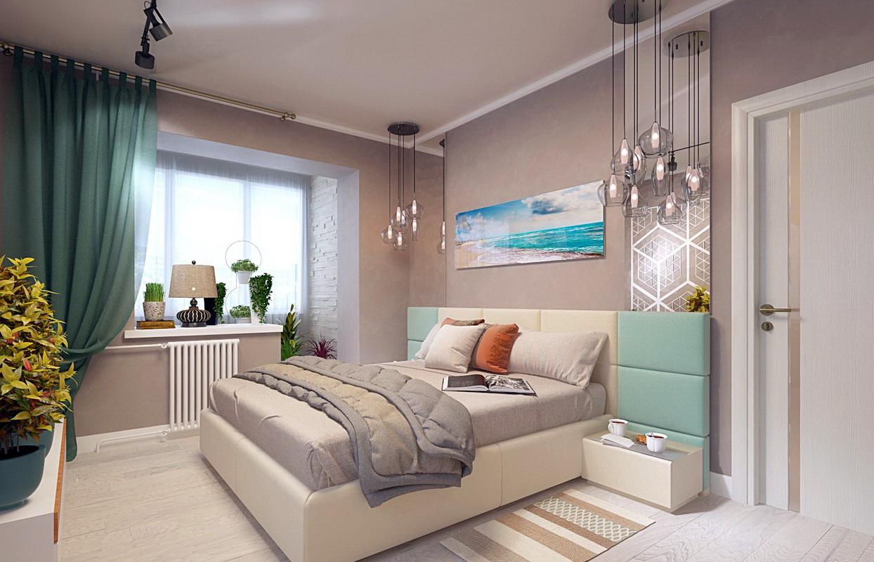 décor de chambre avec balcon