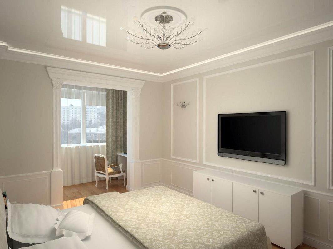 chambre avec balcon aux couleurs vives