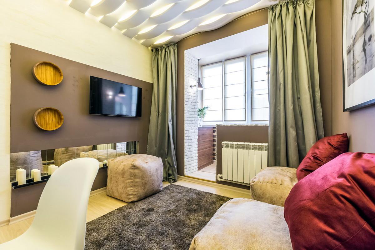 conception d'une chambre combinée avec un balcon