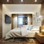 intérieur de la chambre avec balcon