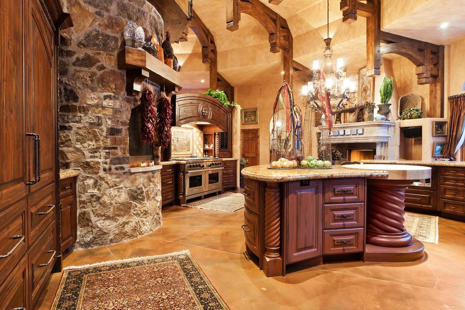 design interior de bucătărie italiană