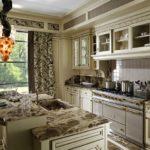 decorare foto bucătărie în stil italian