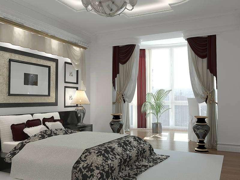 design de chambre classique avec balcon