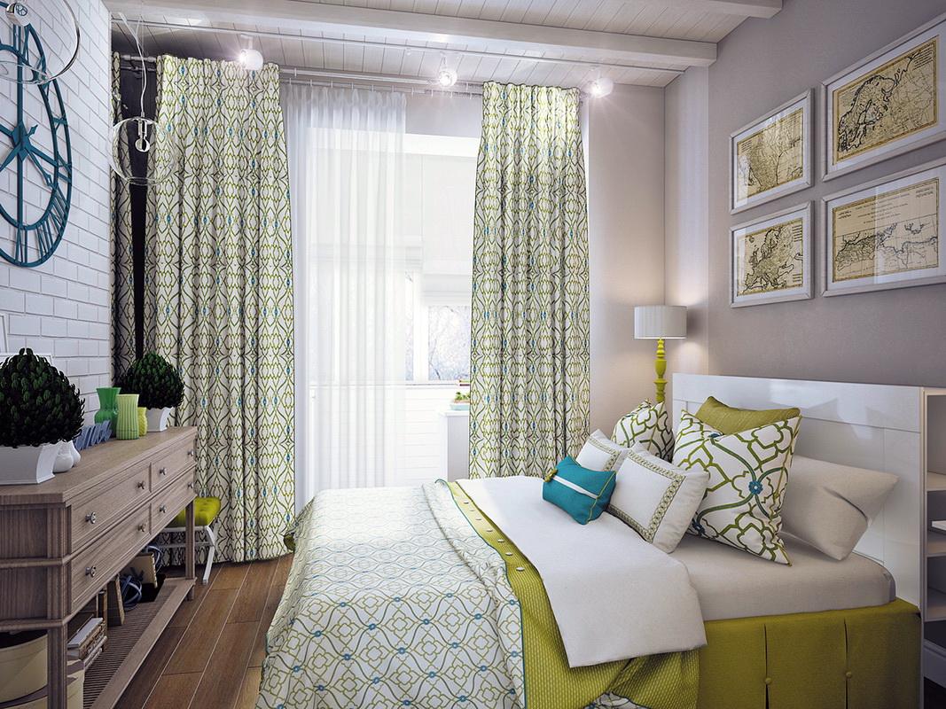 beau design d'une chambre avec balcon