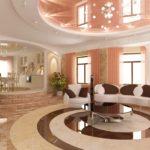 Phòng khách sàn đá cẩm thạch