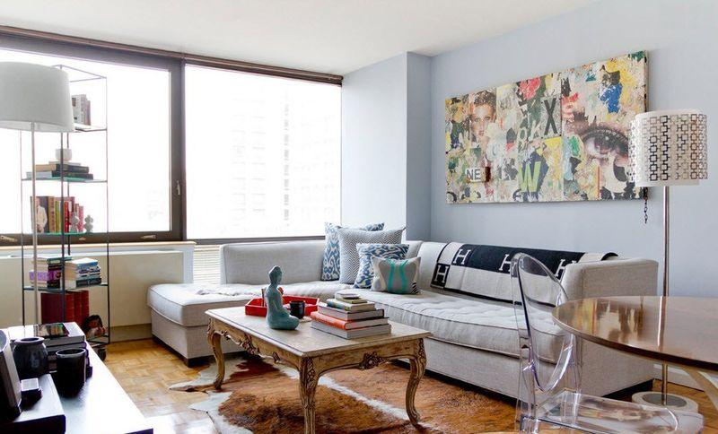 Thiết kế phòng khách cho căn hộ nhỏ mang phong cách công nghệ cao