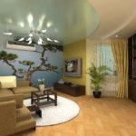 Trang trí phòng khách với hình nền