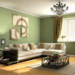 Trang trí tường hồ trăn cho phòng khách