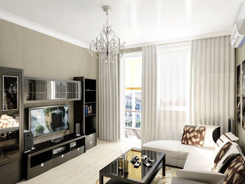 Làm phòng khách trong chung cư thành phố.