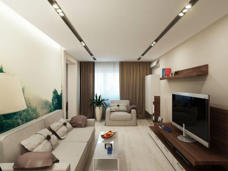 Thiết kế phòng khách trong một căn hộ nhỏ.