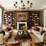 Trang trí màu nâu sẫm với đồ nội thất bằng gỗ