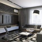 Trang trí phòng khách màu đen và trắng