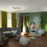Trang trí phòng khách theo phong cách sinh thái với đèn sàn